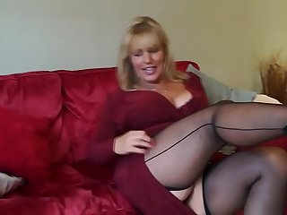Mature stockings solo tube